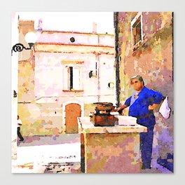 Vulture: fish vendor Canvas Print
