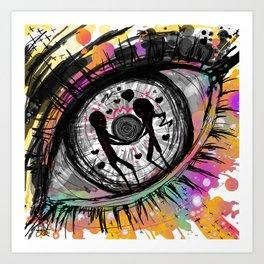 Ocular hysteria Art Print