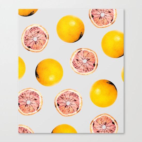 Grapefruit Pattern #society6 #decor #buyart Canvas Print