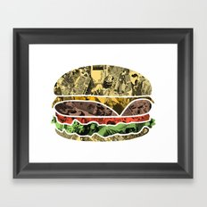 The Rising Burger Framed Art Print
