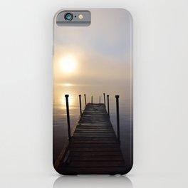 Soft Sunrise on a Misty Adirondack Morning iPhone Case