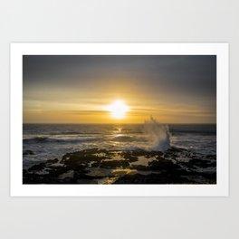 Sunset Rogue Wave Art Print