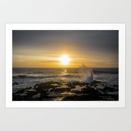 Sunset Rogue Wave Art Print