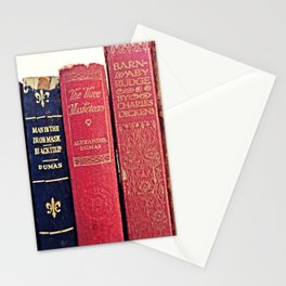 antique books by Dumas and Dickens Stationery Cards