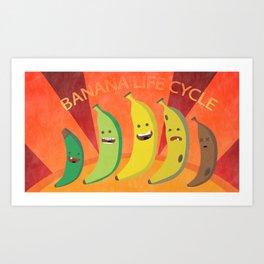 Banana Life Cycle Art Print