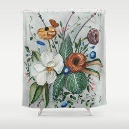 Moody Magnolia Arrangement Shower Curtain