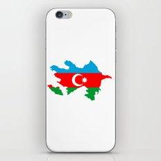 Azerbaijan flag map iPhone & iPod Skin