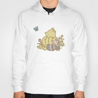 pooh Hoodies featuring Classic Pooh by kltj11