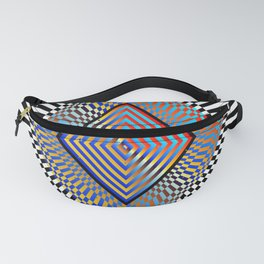 Matrix processor. Holographic hypnotic pattern. Fanny Pack