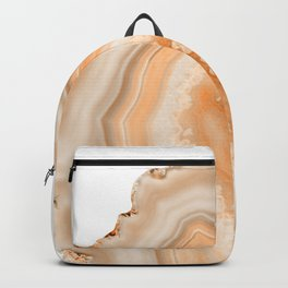 Soft Orange Agate Dream #1 #gem #decor #art #society6 Backpack