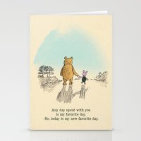 winnie the pooh Stationery Cards featuring Winnie the Pooh by Anna Della Marta
