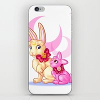 sailormoon iPhone & iPod Skins featuring Moon Rabbits by Becky Hopkins