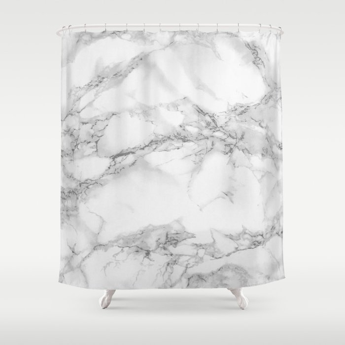 Marble Shower Curtain By Colorandpatterns