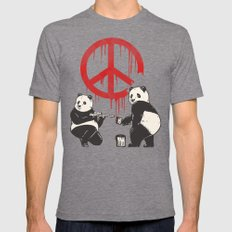 Pandalism V2 LARGE Tri-Grey Mens Fitted Tee