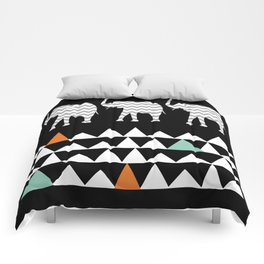 Tribal Elephants, Aztec Andes Pattern Comforters