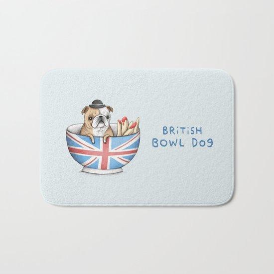 British Bowl Dog Bath Mat
