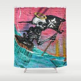 Sailing Skeleton  Shower Curtain