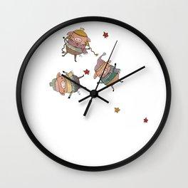 huffed and puffed Wall Clock