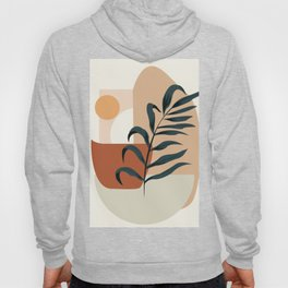 Abstract modern art, leaf, sun and shapes Hoody