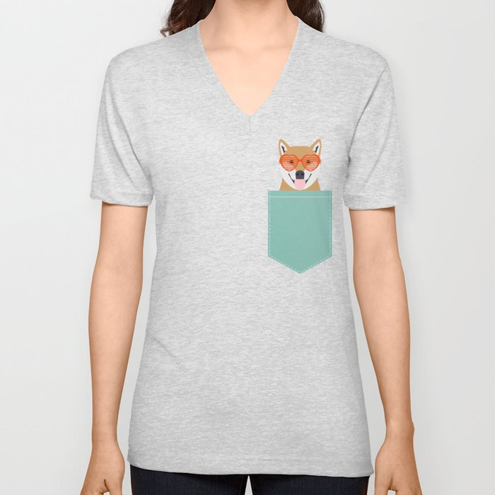 Shiba Inu Love - Gifts for pet owners dog person gifts shiba inu gifts customizable dog gifts cute Unisex V-Neck
