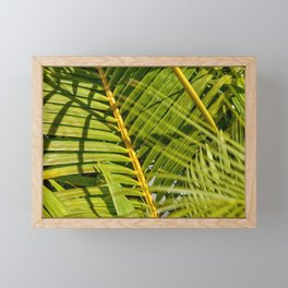 Green palm Framed Mini Art Print