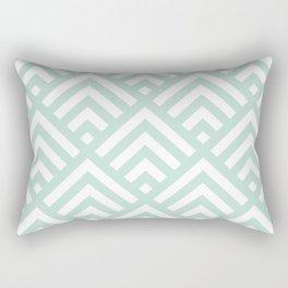 Turquoise Blue geometric art deco diamond pattern Rectangular Pillow