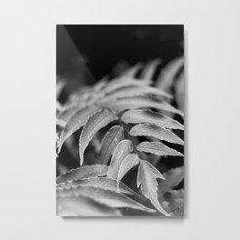 Deep In - leaves & fern Metal Print