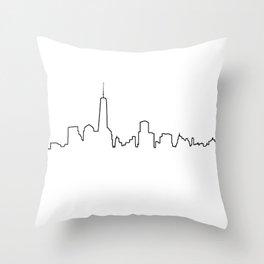 New York Life Line Throw Pillow