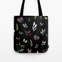 Tiny watercolor leaves pattern Tote Bag