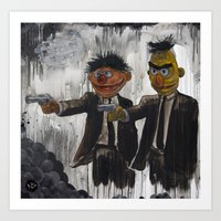 muppets Art Prints featuring Pulp Street by Beery Method