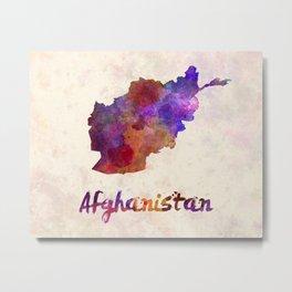 Afghanistan in watercolor Metal Print