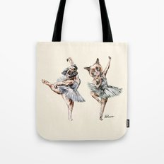 Hipster Ballerinas - Dog Cat Dancers Tote Bag