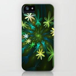 Fantasy Flowers, Fractal Art iPhone Case