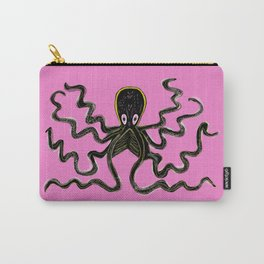 Octopus pink background Carry-All Pouch