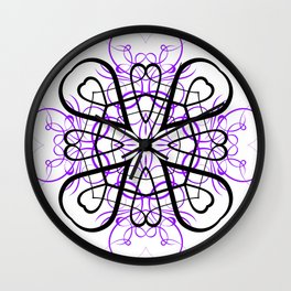 PURPLE SACRED GEOMETRY Wall Clock