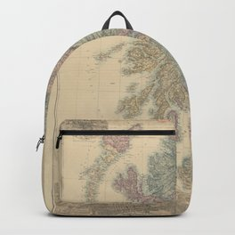 Old Map Of Scotland Backpack