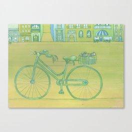 """Bicycle Picnic"" Canvas Print"