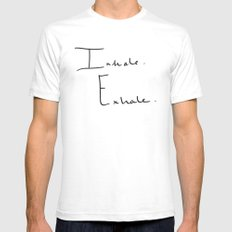 Inhale Exhale Mens Fitted Tee White MEDIUM