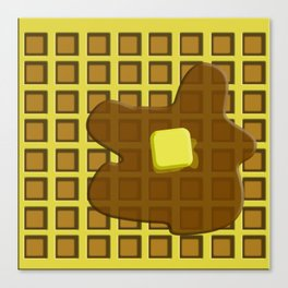 And in the mornin'? I'M MAKING WAFFLES Canvas Print