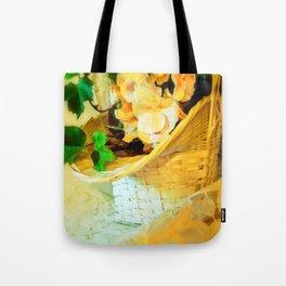 Hydrangeas in a Basket Tote Bag
