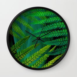 Forest Fern Green Wall Clock