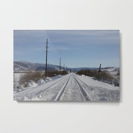 Carol M. Highsmith - Snow Covered Railroad Tracks Metal Print