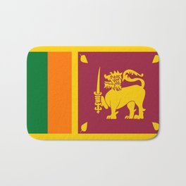 Flag of sri Lanka -ceylon,India, Asia,Sinhalese, Tamil,Pali,Buddhist,hindouist,Colombo,Moratuwa,tea Bath Mat