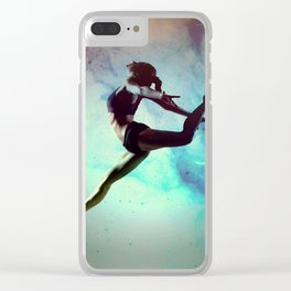 Ballet Dancer Feat Lady Dreams Abstract Art Clear iPhone Case