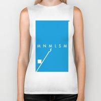 minimalism Biker Tanks featuring Minimalism• by Mike•Long