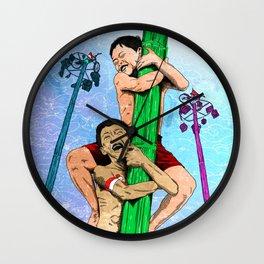 Panjat Pinang Wall Clock