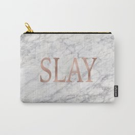 Slay rose gold marble Carry-All Pouch