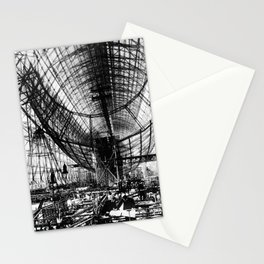 Airship under construction Stationery Cards