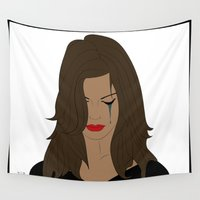 angelina jolie Wall Tapestries featuring Jolie by Mi Absurda Osadía