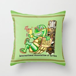 International Association of Turtles Throw Pillow